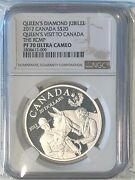 Canada 2012 20 Pf70 Ultra Cameo Coin - Queenandrsquos Visit To Canada The Rcmp