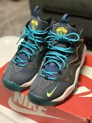 Nike Air Pippen Size 9 Navy Blue Sonic Yellow Tropical Teal 325001-400 Shoes