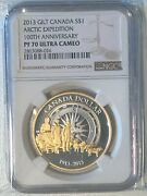 Canada 2013 1 Pf70 Ultra Cameo Coin - Gilt Andndash Arctic Expedition 100th Anniver