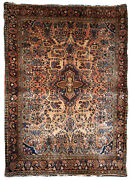Handmade Antique Oriental Rug 3.4and039 X 5.3and039 103cm X 161cm 1920s - 1b699