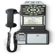 Wall Mount Classic Rotary Pay Phone Old Fashioned Vintage-design Telephone Home