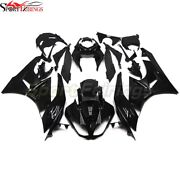 Injection Fairings For 2009-2012 Kawasaki Zx6r Zx 636 Black Injection Body Frame