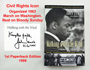 Signed John Lewis 1st Edition Walking With The Wind, Civil Rights, Mlk, Georgia