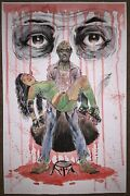 The Walking Dead Original Zombie Roller Derby Mixed Media Painting Twd Horror 💀