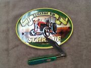 Schrade Tractor Up Green Daddy Barlow Knife