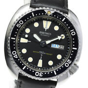 Wristwatch Seiko 3rd Diver 150m 6306-7001 Men's Used Silver Black Automatic 44mm