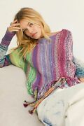 Free People Nwt Size Xs Boho Knit Radiate Pullover Top New