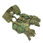 Us Army Military Tactical Green Woodland Camo Load Bearing Vest Sp0100-94-c-0321