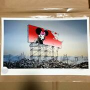 New 2016 Jeff Gillette Banksy Minnie Nagasaki Printed Matter With Coa Signed
