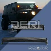 Curved 22in 200w Led Light Bar Work Spot Flood Combo Off Road Atv Suv Truck 4wd