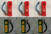 Lot Of 6 Nintendo Wii Remote Motion Plus Mario Bowser Tested