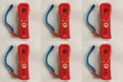 Lot Of 6 Nintendo Wii Remote Motion Plus Mario Tested
