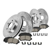 Front And Rear Drill Slot Brake Rotors And Ceramic Pads For Mazda 07-13 3 Mazdaspeed