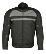 M Boss Motorcycle Apparel Bos11700 Black Menand039s Nylon Racer Jacket With