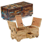 Coffee Table Solid Mango/reclaimed Wood Storage Cabinet Living Room Furniture Us