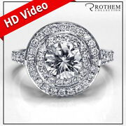 Andpound9450 Double Halo Engagement Ring 1.80 Carat Diamond White Gold Si2 51394199