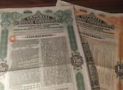 China Chinese Imperial Tientsin Pukow Railway Lot 2 Bonds Set Pounds Loan