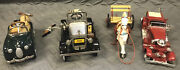 Mixed Lot Of 4 Vintage Diecast Toy Cars. Hallmark Kiddie Cars And 1937 Ahrens-fox