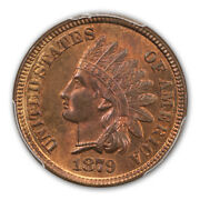 1879 1c Indian Cent - Type 3 Bronze Pcgs Ms65rd