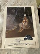 Star Wars 1977 Original Movie Poster 1sh Style A 77/21 30andrdquox40andrdquo On Card-stock