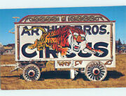 Chrome Postcard Of Antique Wagon At Circus World Museum Baraboo Wi Ag0116