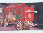 Chrome Postcard Of Antique Wagon At Circus World Museum Baraboo Wi Ag0113