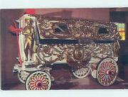 Chrome Postcard Of Antique Wagon At Circus World Museum Baraboo Wi Ag0112
