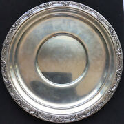 """Vintage Reed And Barton Sterling Silver Tray Platter Burgundy Pattern 10 1/2"""" X747"""