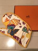 Vintage Hermes Apron Mittens There Are Many Wrinkles And Stains With Box