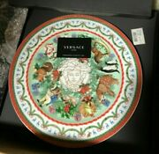 Versace Medusa Wall Plate Merry Christmas Rosenthal New In Box Retail 500 Rare