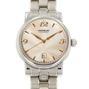 Star Date 105961 Silver Dial Stainless Menand039s Watch From Japan [b0708]