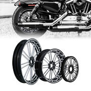 21/23/26/30'' Front 18'' Rear Wheel Rim Belt Pulley Fit For Harley Touring 08-21