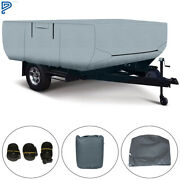 Rv Trailer Cover For Folding Pop Up Camper 12-14 Ft Trailers Waterproof