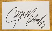 George Michael Signed Autographed 3.5 X 6 Card Full Jsa Letter Wham Faith