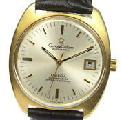 Wrist Watch Omega Constellation Menand039s Analog Silver Automatic Winding Swiss Used