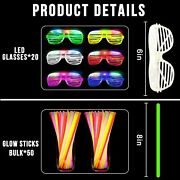 70 Pack Glow Sticks Bulk Party Supplies Led Light Up Toys Glow In The Dark For K