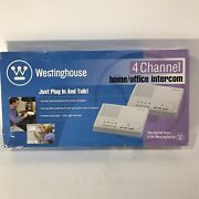 """Westinghouse 4 Channel """"plug And Talk"""" Home Office Intercom Set-new Old Stock"""