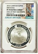 Great Britain 2016 2 Pounds Pf70 Ultra Cameo Coin - Britannia One Of 1st 500