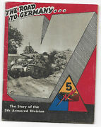 Wwii Wartime Printed 5th Armored Division Unit History