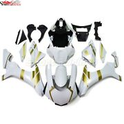 For 2015 2016 2017 2018 2019 Yamaha Yzf1000 R1 White Gold Injection Fairing Kit