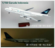 1150 Indonesia Air Boeing B747 Passenger Aircraft Plane 47cm Model Toy Gift