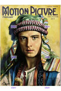 Postcard Print / Rudolph Valentino / The Sheik / Motion Picture 1921