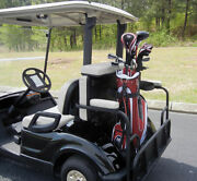 2 In 1 Combo Seat Kit And Golf Bag Carrier For Club Car Precedent Golf Cartwhite