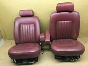 1984 1988 1992 Bentley Eight Front Cousin Seat Pair Right Left Oem Red Leather