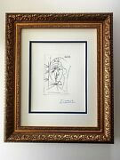 Pablo Picasso + 1964 Signed Superb Print Matted 11 X 14 + List 695