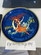 Vintage 1950's Miller Lite High Life Woman On Moon Beer Tray 8274