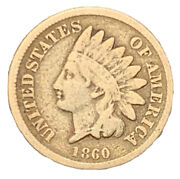 1860 Very Good Vg Indian Head Cent 1c Exact Coin   Free Shipping 6856