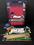 Justin Turner Dodgers Signed 2020 Ws Bobblehead 2020 Ws Champs Beckett Wk50390
