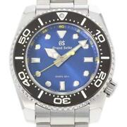 Grand Seiko Divers Sbgx337 Quartz Stainless Menand039s Watch From Japan [b0710]