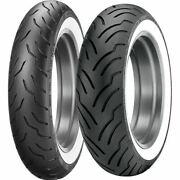 130/90b 16, 180/65b 16 Dunlop American Elite Ww Front And Rear Tire Kit - 2 Tires